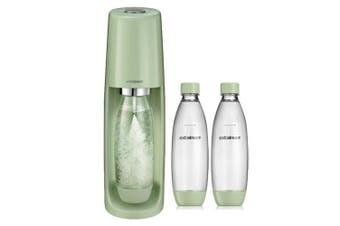 SodaStream Spirit Sparkling Water Maker w/ 2x 1L Carbonation Bottles Country GRN
