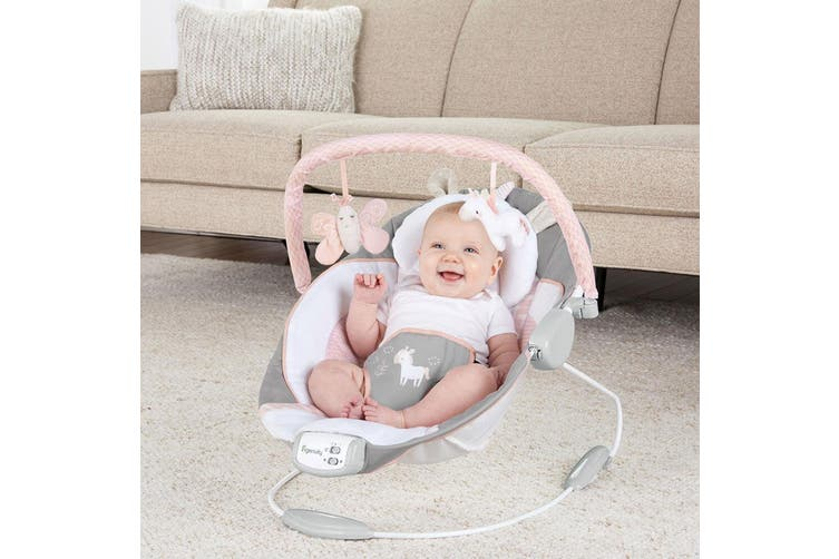 Ingenuity Baby/Infant/Newborn Bouncer/Rocker Chair/Seat 0m+ w/ Toys Audrey Pink