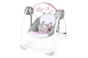 Ingenuity Swing Baby/Infant Swing/Rocker Chair 0m+ w/ Toys Audrey PS Update Pink
