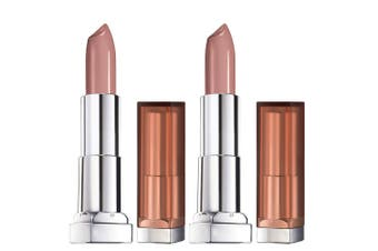 2x Maybelline Colour Sensational Women Matte Cream Nudes Lipstick 545 Beige Babe