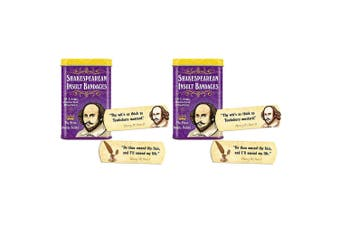 30pc Archie McPhee Shakespearean Insults/Dramatic Assorted Bandages/Plasters