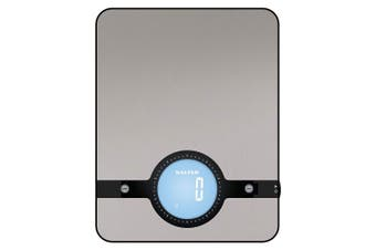Salter Geo Electronic Kitchen Scale Stainless Steel Portable Food Weigh/Weigher
