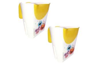 2PK Sesame Street Kids/Baby 1y+ Children Shampoo Water Rinser Bathing Cup Yellow