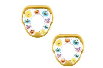2PK Sesame Street Soft Padded Toilet Training/Potty Seat f/Toddler/Kid/Child 2y+