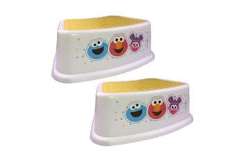 2PK Sesame Street Non Slip Step/Foot Stool Children/Toddler/Kids Seat 18m+