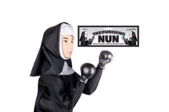 Archie McPhee Nun Boxing/Punching Hand Puppet Kids 6y+ Comedy Role Play Toy