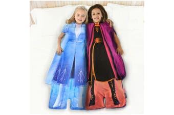 2pc Disney Frozen 2 Anna/Elsa's Adventure Outfit Blankie Tails Kids Blanket 3y+