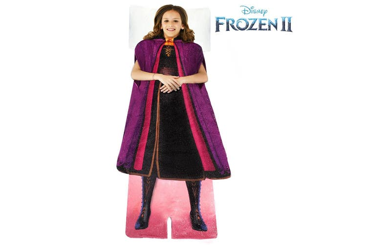 2pc Disney Frozen 2 Anna/Elsa's Adventure Outfit Blankie Tails Kids Blanket 3y+