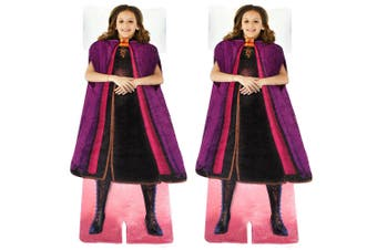 2x Disney Frozen 2 Anna's Adventure Outfit Blankie Tails Fleece Kids Blanket 3y+