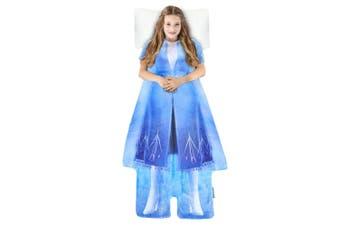 Disney Frozen 2 Elsa's Adventure Outfit Blankie Tails Fleece Kids Blanket 3y+