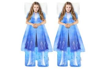 2x Disney Frozen 2 Elsa's Adventure Outfit Blankie Tails Fleece Kids Blanket 3y+