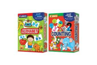 2PK Explore Self Correcting Kids Educational Puzzle Alphabet & Counting Combo