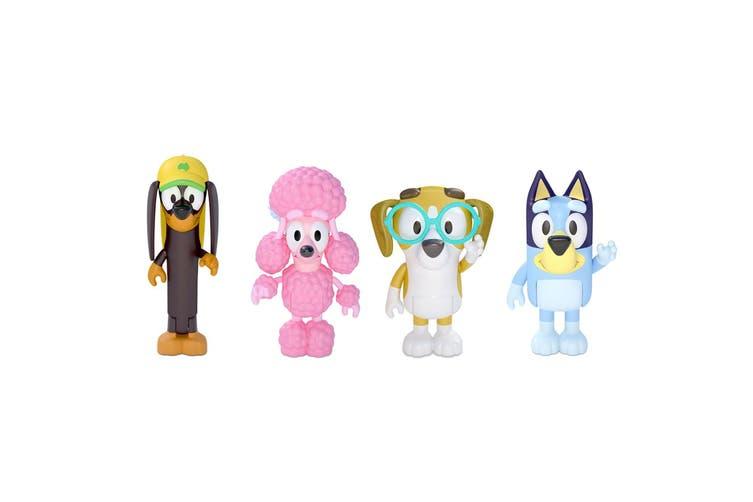 4PK Bluey Figure Friend Kids/Children Toy Snickers/Coco/Bluey/Honey Figurine Set