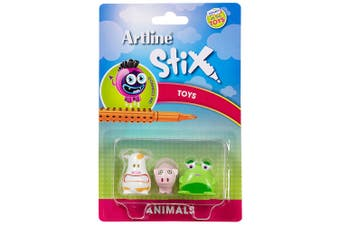 Artline Stix 3PK Animals Toys for Stix Drawing Pens/Markers/Build/Play Kids/Art