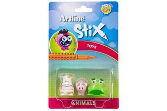 Artline Stix 3PK Animals Toys for Stix Drawing Pens/Markers/Build/Play Kids/Art