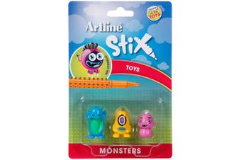 Artline Stix 3PK Monsters Toys for Stix Drawing Pens/Markers/Build/Play Kids/Art