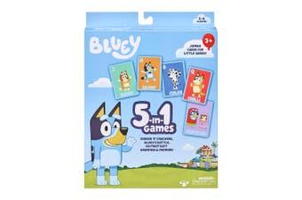 Bluey 5-in-1 Card Game Kids/Children Snap/War/Fish/Memory Fun Play Games 3y+