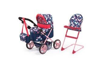 Cosatto 68cm Doll's Pram & 66cm High Chair Pretend/Role Play Kid Toy Unicorn 3y+