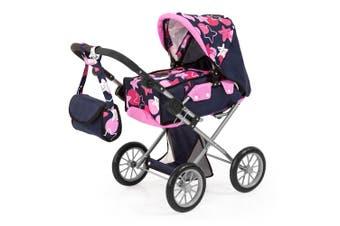 Bayer City Star 72cm Doll Pram/Stroller/Bassinet w/Stars & Circles Kids Toy 3+