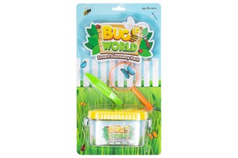 3pc Bugs World Insect Discovery w/ Container/Magnifier/Tweezers Kids Toys Kit