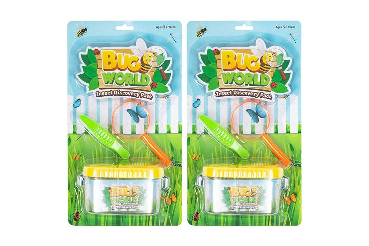 6pc Bugs World Insect Discovery w/ Container/Magnifier/Tweezers Kids Toys Kit