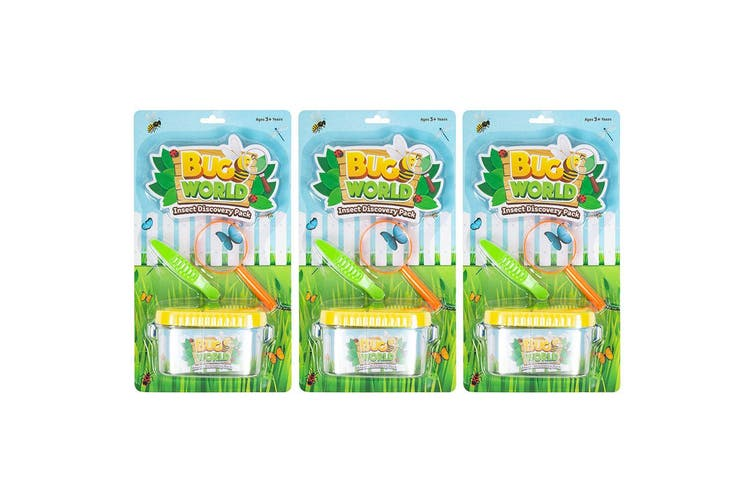 9pc Bugs World Insect Discovery w/ Container/Magnifier/Tweezers Kids Toys Kit