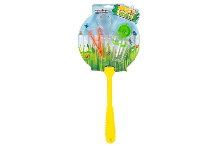 4pc Bugs World Butterfly Net w/ Net/Container/Magnifier/Tweezers Kids Toys Kit