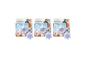 3PK Dreamworks Frozen II Snowflake Bath Bomb Fizzer Kids 5y+ Bathbombs Assorted