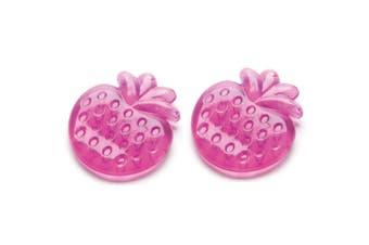 2x Pigeon Cooling Baby/Infant Teether/Teething/Candy Purple Strawberry BPA Free