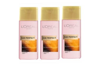 3PK Loreal 200ml Age Perfect Anti-Fatigue/De-Crinkles Toning Lotion Mature Skin