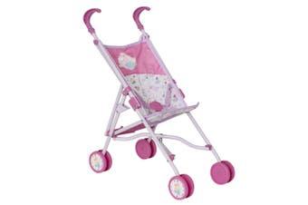 Baby Born 45cm Doll Stroller/Pram Kids/Children/Toddler 3y+ Role Play Toy Pink