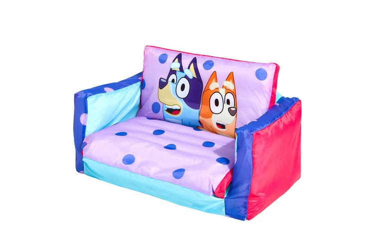 Bluey Inflatable Flip Out Mini Sofa Bed/Chair 68cm Kids/Toddlers Indoor/Camping