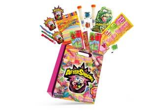 18pc Aftershocks Kids Showbag w/Monster Dip/Sherbet Bottles/Pops/Fruity Chews