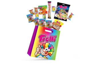 11pc Trolli Kids Candy Showbag w/Gummy Bear/Sea Critters/Cola Bottles/Burgers