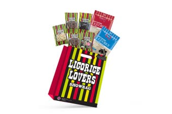 7pc Licorice Lovers Kids Showbag w/Licorice/Raspberry/Fizzy Fruits Bullets