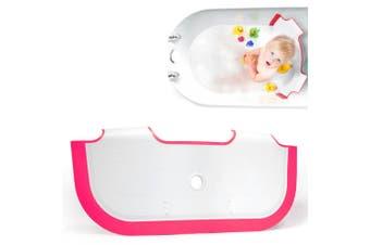 BabyDam Bath Barrier Baby Dam/Toddler/Kids Tub/Bathtub/Bathing  Save Water Pink