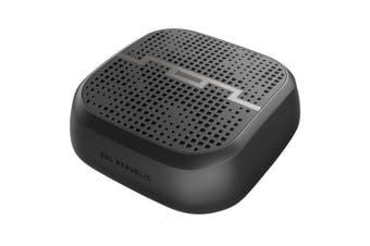 Sol Republic 9cm Punk Portable Pocket Bluetooth Speaker/Aux/Water Resistant BLK