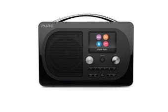 Pure Evoke H4 Prestige Edition DAB/DAB+/FM Digital Radio w/Bluetooth Speaker BLK
