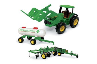 John Deere 20cm 8530 Kids Children Tractor/Vehicle Toy w/ Forklift/Ammonia Set