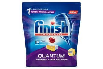 Finish 34 Tabs Powerball Quantum Lemon Sparkle Dishwashing Tablet f/ Dishwasher