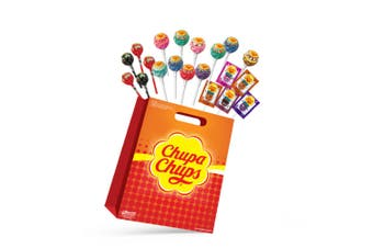 22pc Chupa Chups Kids Showbag w/Creamy/Tongue Painters/Faces Lollipops Candy