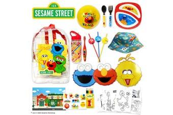 Sesame Street Kids Showbag w/Cutlery/Plate/Bottle/Backpack/Toothbrush/Hat