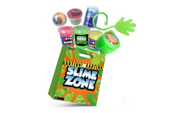 Slime Zone Kids Showbag w/Neon Slime/Putty/Oil Barrel Slime/Sticky Snapper Hand