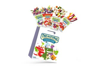 4pc Cadbury Natural Confectioney Showbag w/Fruity Chews/Squirms/Snakes/Party mix