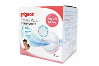 50pc Pigeon Disposable Breast Pads Nursing/Breasfeeding Maternity Pad Honeycomb