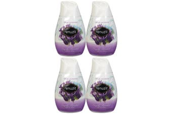 4pk 189g Renuzit Fresh Lavender Gel Air Freshener Home Fragrance Odour Control