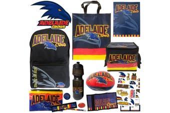 AFL Adelaide Crows Kids Showbag w/Backpack/Bottle/Football/Stationery/Wallet