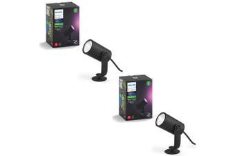 2PK Philips Hue 8W LED Bulb Outdoor Spot Garden Walkway Light/Lighting Extension