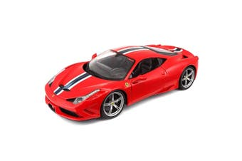 Bburago 1:18 Ferrari Race & Play 458 Speciale Diecast Car Kids Vehicle Toy Red