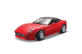 Bburago 1:18 Ferrari Race & Play California T Closed Diecast Replica Car Toy Red